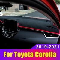 For Toyota Corolla E210 2019 2020 2021 Car Dashboard Covers Mat Sun Shade Pad Instrument Panel Carpets Trim Anti-UV Accessories