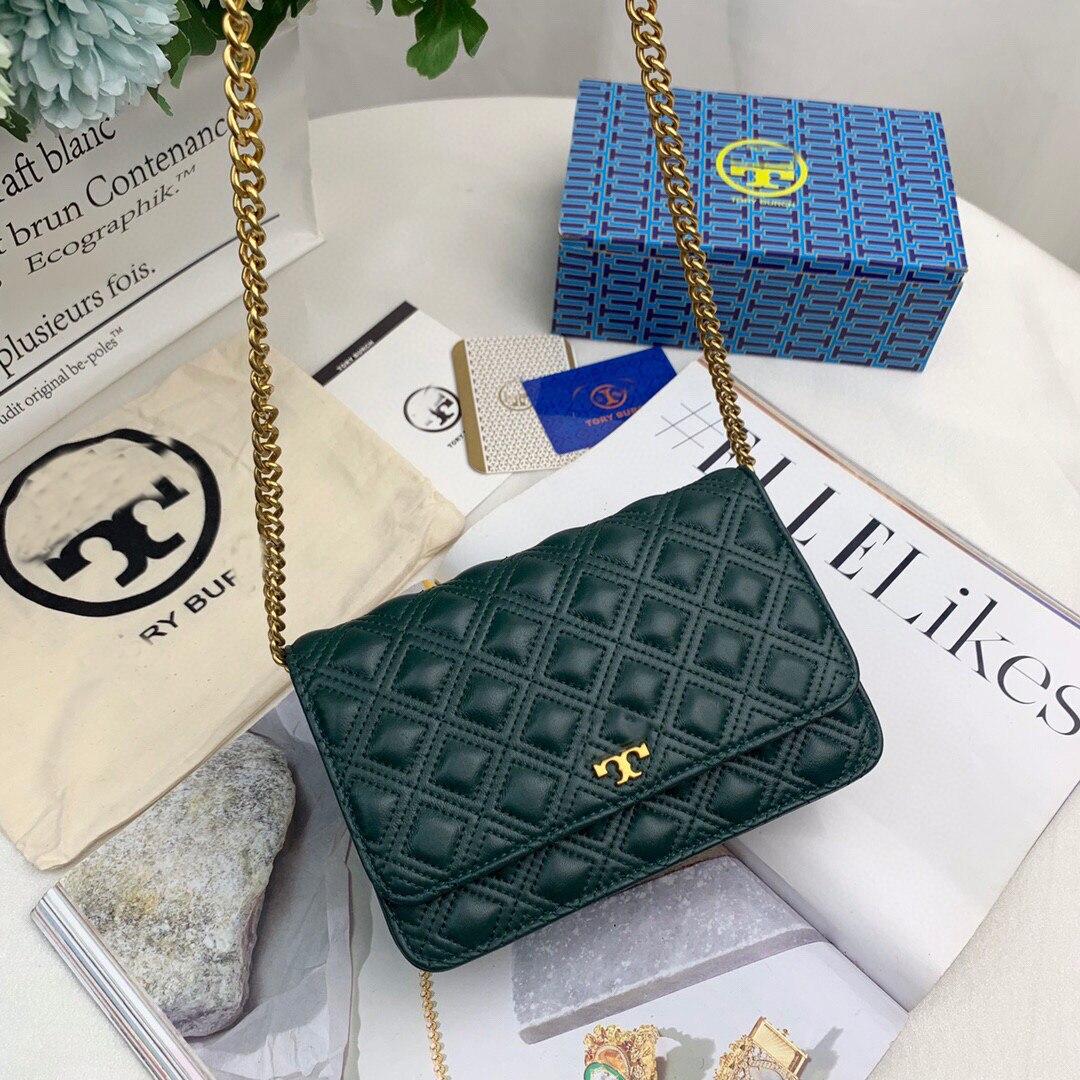 Модная Универсальная роскошная износостойкая сумка-мессенджер на плечо с ромбовидной цепочкой из овечьей кожи с вышивкой
