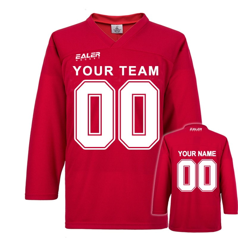 COLDOUTDOOR Freies verschiffen Eishockey praxis trikots mit ihre name, anzahl, team name und schwarz, blau, rot, gelb, weiß farbe