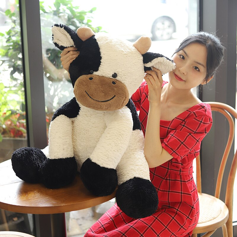 25-35cm new toy Standing cow plush toy dairy cow Cute Cattle Plush Stuffed Animal soft doll throw pillow Christmas gift  - buy with discount