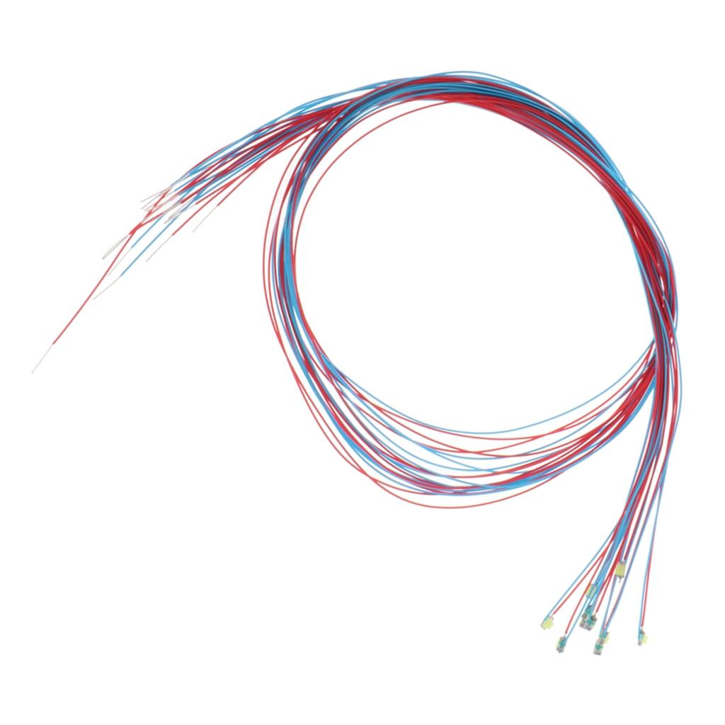 10 Uds 3V Flash rojo LED Cable de luz disposición Parque Jardín farola con Cable para tren Jardín modelo Diorama Kit