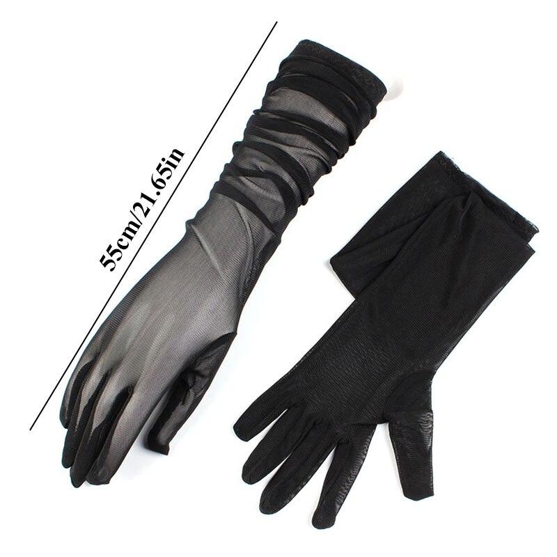 Женские эластичные перчатки, летние перчатки для вождения, велосипедные перчатки, сексуальные длинные перчатки с лямкой на шее, женские эла...