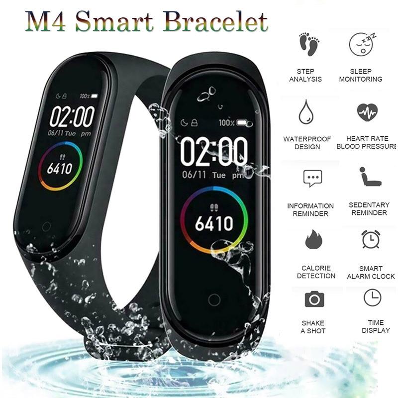 Banda inteligente M4 Bluetooth podómetro a prueba de agua Frecuencia Cardíaca presión arterial Fitness Correa deportiva de reloj pulsera inteligente para Android IOS