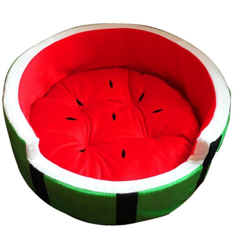Bonito sofá del colchón de perro con forma de sandía para casa de perro, cama de fruta para perro (apto para animales, peso máximo 4Kg)