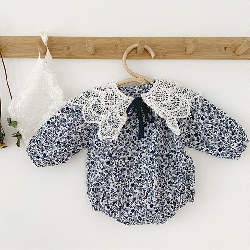 Новинка 2020 года; Комбинезон для малышей; Одежда с цветочным рисунком для маленьких девочек; Комплект одежды для новорожденных в Корейском с...