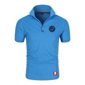 Custom Blue Sky rescue team uniform summer quick-dry collar short-sleeved t-shirt LOGO printed outdoor public service activities