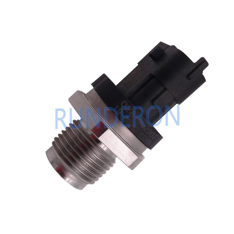 Sensor de presión del sistema de inyección de combustible 0281002907 tubo de riel común 0445224028 0445214115 0445214082 0445224019