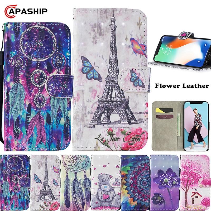 Mariposa cuero cartera Flip caso para Samsung Galaxy A10S A20S A30 A40 A50 A70 A80 A51 A71 M10 M20 M30 cubierta flor teléfono casos