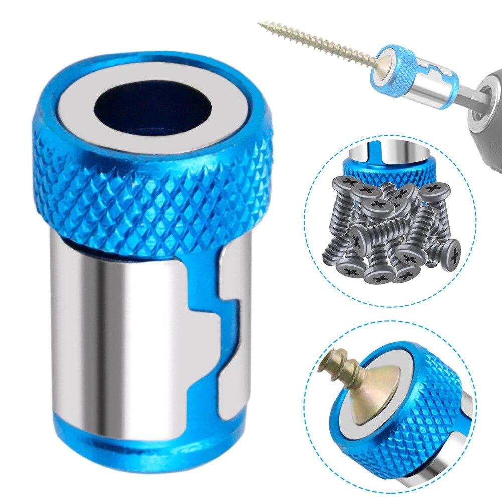 Магнитное кольцо, металлическая головка отвертки, стальная втулка, бита для электрической отвертки 6,35 мм, бита для отвертки, магнитное коль...