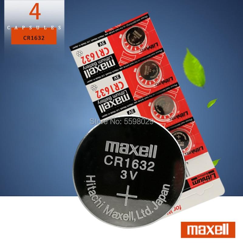 4 шт., Литиевые Батарейки для maxelll CR1632 1632 DL1632 3 в, Кнопочная монета, калькулятор, игрушки, медицинские батареи