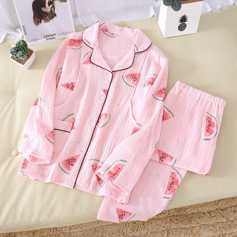 Fdfklak 2020 Spring Autumn New Maternity Pajama Set Women Pink/Blue Print Pijama Maternal 100% Cotton Nursing Mothers Clothes enlarge