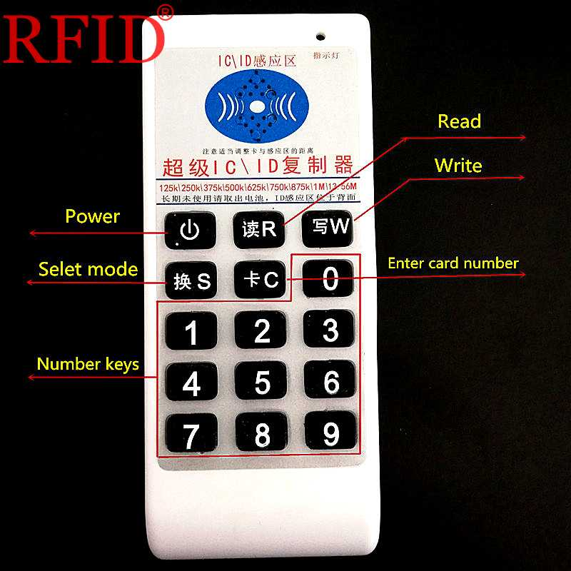 Handheld 125khz 13.56mhz copiadora clonador rfid nfc ic/id leitor escritor máquina cartões id keyfobs 5 pces ic cartões em branco 5 pces