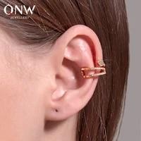 fashion snake shaped ear clip without piercing full diamond earrings set ear buckle jewelry single ear bone clip jewelry gift