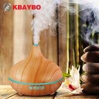 KBAYBO     Humidificateur dair a larome de grain de bois pour maison  avec lumieres LED  appareil diffuseur dhuile essentielle  aromatherapie  brumisateur electrique  300ml