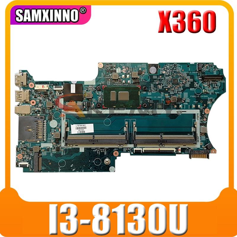 ل HP بافيليون X360 14-CD 14M-CD L18175-601 اللوحة الأم للكمبيوتر المحمول مع SR3W0 i3-8130u 448.0E808.001B DDR4 MB 100% اختبار سريع السفينة