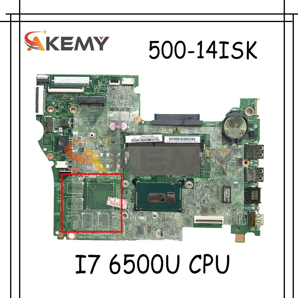 Akemy لينوفو Yoga-500-14isk فليكس-3-1480 الكمبيوتر المحمول اللوحة I7 6500U الرسومات المتكاملة LT41 SKL MB 14292-1 OK