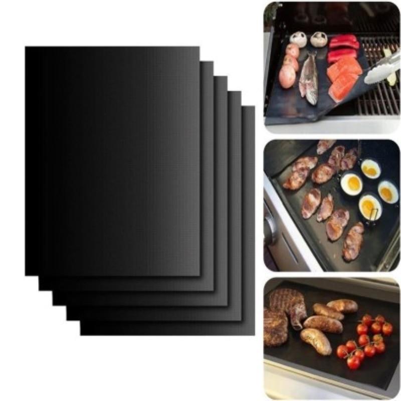 Neue Non-stick Grill Grill Grill Matte Grill Kochen Matte Reusable Kochen Platte 40*33 Cm Für Party grill Matte Werkzeuge