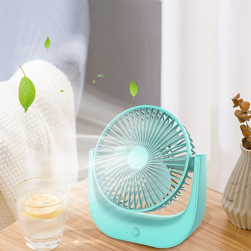 Macaron pequeño ventilador de escritorio USB ventilador eléctrico del hogar cambio de marchas VENTILADOR DE MESA