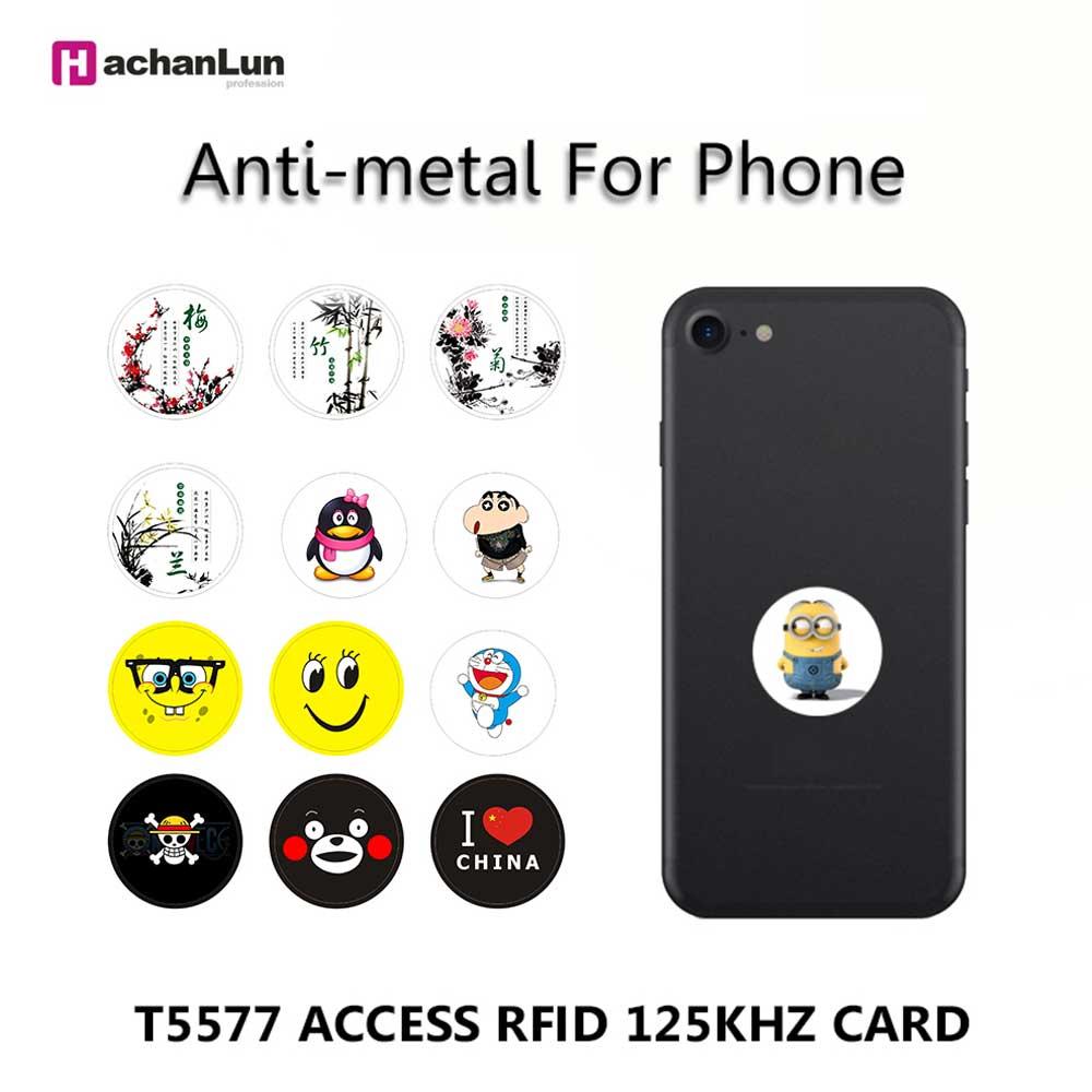 EM4305 T5577 анти-металл 125 кГц RFID карта доступа Близость перезаписываемый копируемый клон анти-помех Мобильный телефон стикер