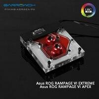 Barrowch MB-ASR6EA-PA ASUS ROG R6E R6A X299 motherboard Integrated Water Block OLED intelligent display