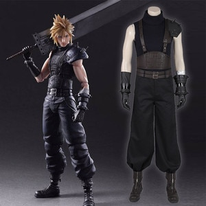 Anime Accessories Game Anime Coslpay Final Fantasy 7 Reset Version Of Claude Vest Vest Full Set Of Cos Clothing