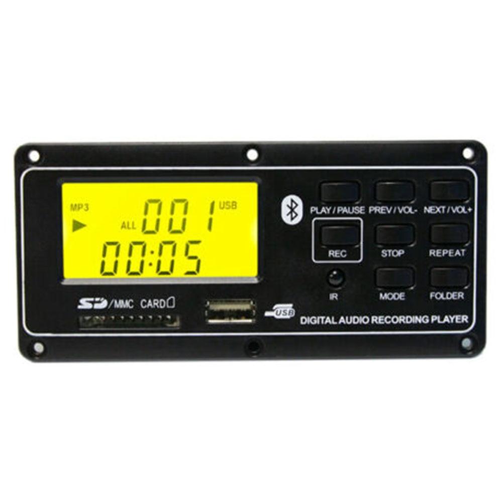 Pequeño reproductor de MP3 Bluetooth tablero FM Control remoto Digital Led Aux tarjeta accesorios Audio decodificador USB módulo