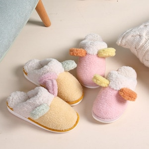 Winter Couples Warm Home Cotton Slippers Female Indoor Cute Cartoon Soft Cute Korean Thick Bottom Non-slip Slippers Home