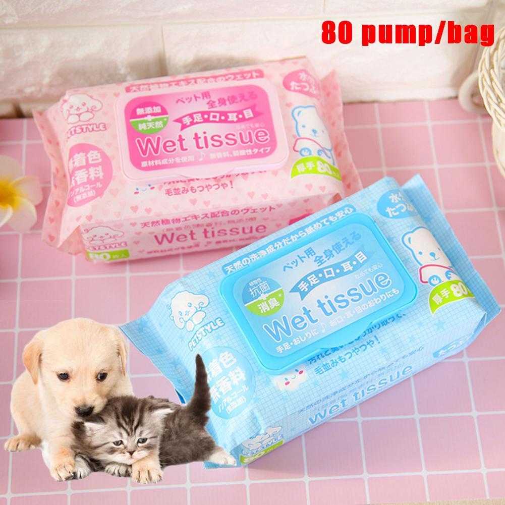 ¡Nuevo! 80 uds, toallitas húmedas para gatos y perros de compañía, toallitas limpiadoras, toallitas, suministros para ojos de mascotas