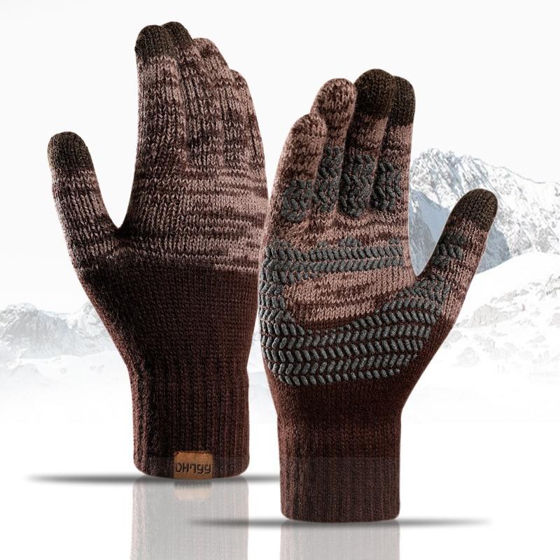 2021 горячая распродажа мужские трикотажные зимние перчатки кашемировые вязаные женские осенние зимние теплые толстые перчатки лыжные перч...