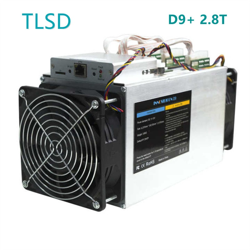 TLSD Used Innosilicon D9+ 2.8T Bitcoin Mining Machine with Power Supply