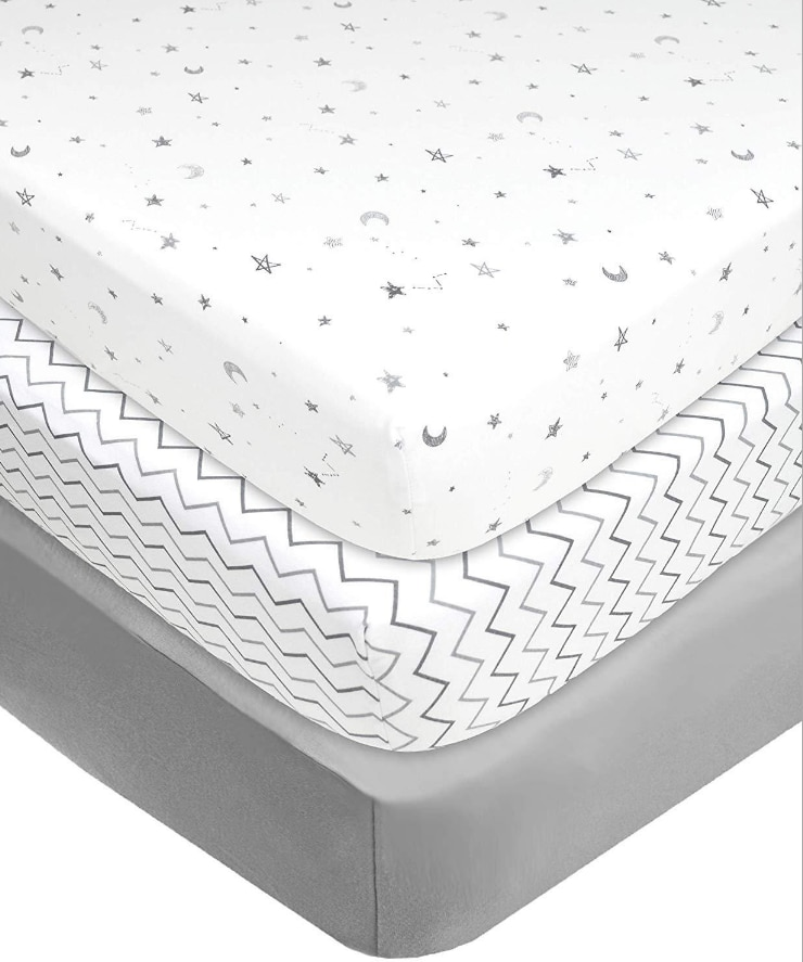 100% Cotton Frib Fitted Sheets With Elastic Band Baby Bed Mattress Covers Print Newborn Toddler Bedding Set Kids Mini Cot Sheet