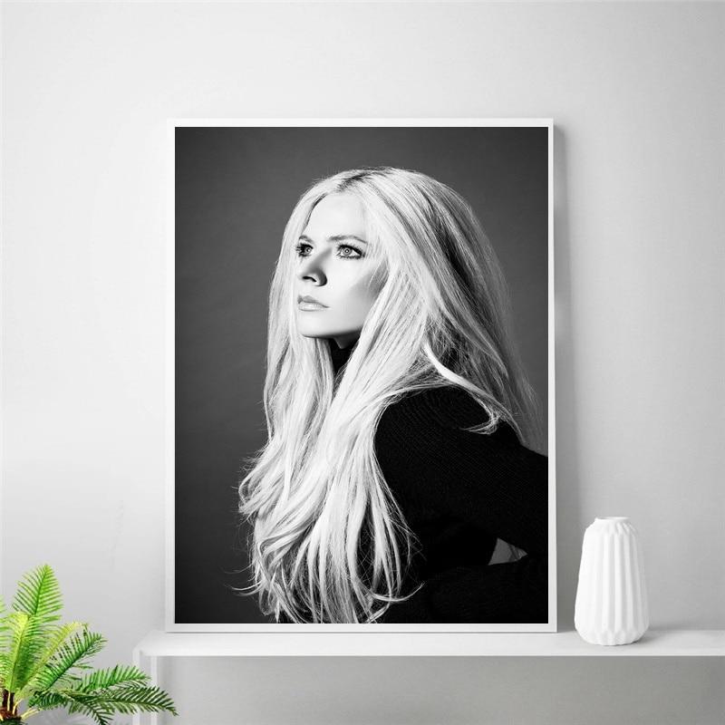 Avril Lavigne póster arte seda póster habitación decoración (sin marco)
