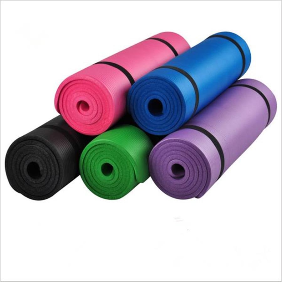 Esterilla de Yoga US NBR de 183x61cm, 15mm de grosor, esterillas de Yoga delgadas, Esterilla de Fitness antideslizante, Esterilla de Pilates, ejercicios para el hogar, almohadilla deportiva para gimnasio