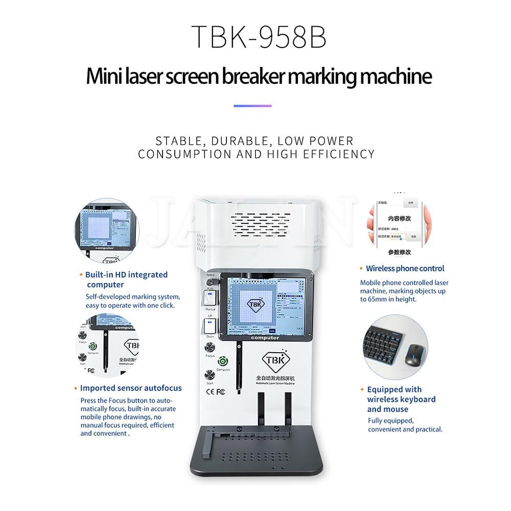 TBK 958B, máquina de corte por láser para impresora DIY, máquina separada para Ip 7 8 X Xs Max 11pro Max, separador de Marco Lcd para quitar vidrio