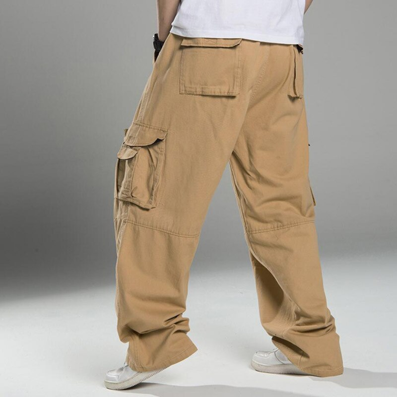 Spring Winter Men cargo pants safari style thick High street wear plus size 10XL pockets Skateboard pants straight pants