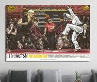 Autocollant mural en soie  Film classique de karate pour enfant  a la mode  belle decoration artistique pour la maison  cadeau decoratif  NP035