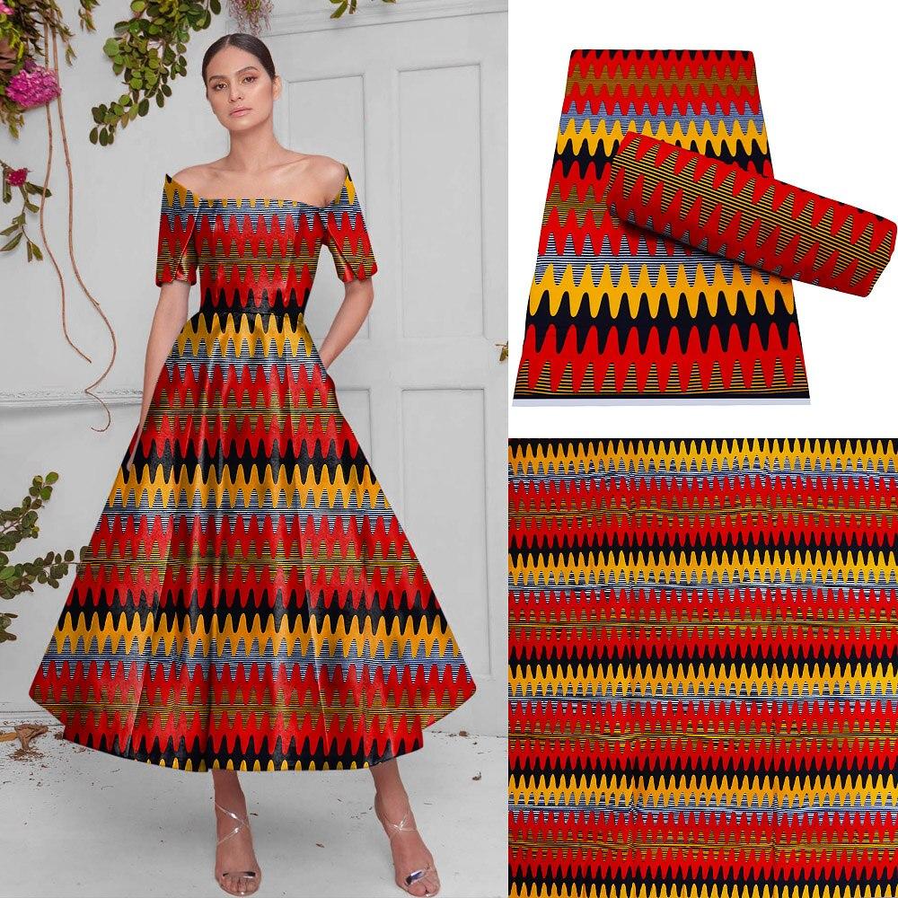 Tecido de Costura Melhor Cera Real África Imprime Tissu Vestuário Artesanato Material Têxtil Africano Vestido Tanga Algodão Macio Moda 2021