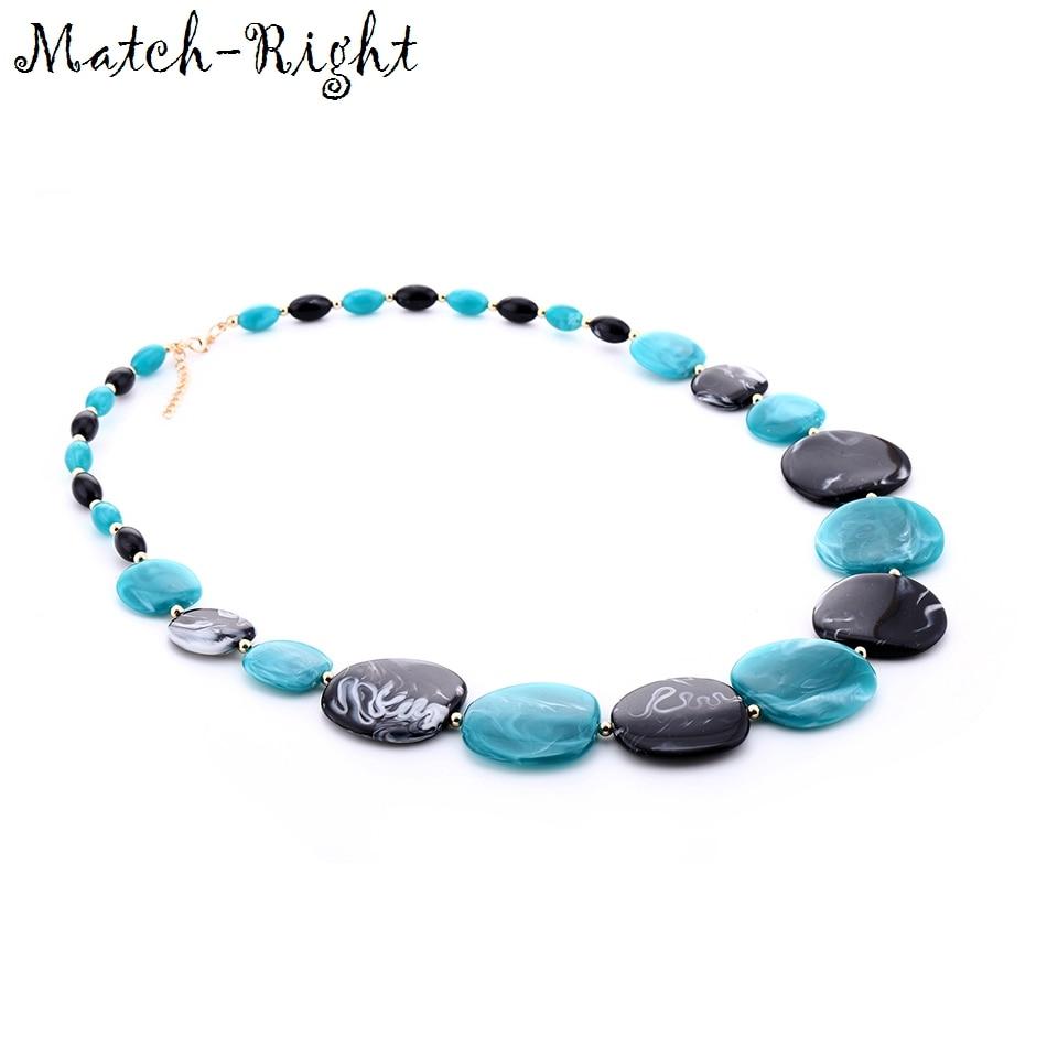 Женские Геометрические ожерелья и подвески Match-Right, длинное ожерелье-свитер с акрилом для женщин, ювелирные изделия SP211