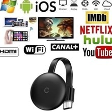 G12 TV Stick For Chromecast 4K HD HDMI-compatible Media Player G12  WiFi Display Dongle Screen Mirro