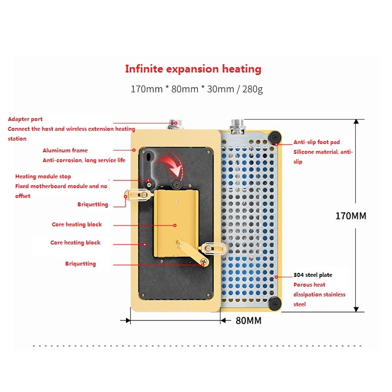 Full Function Welding Platform for iPhone X XS 11 11pro Max CPU Face ID Mainboard Heating Table Can Used Soldering Iron enlarge