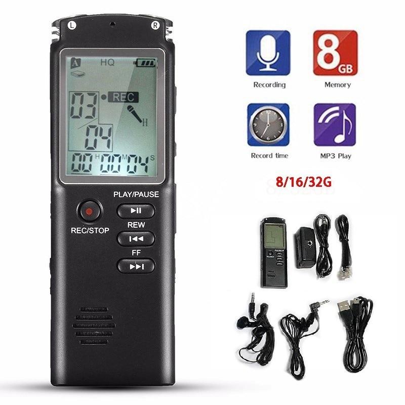 8GB 16GB 32GB Voice Recorder USB Professional Dictaphone Digital Audio with VAR/VOR Built-in Microphone Voice Recorder 0