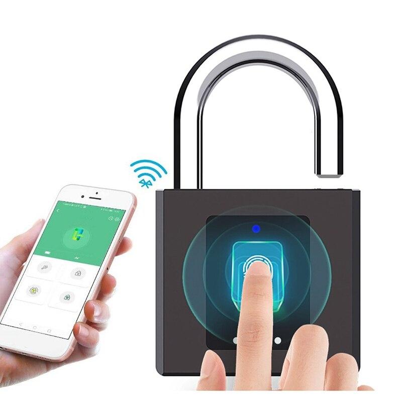 قفل الباب الذكية قفل ببصمة الأصبع دعم بلوتوث APP التحكم IP65 قفل مقاوم للماء لمصنع قفل أمان الباب الحديد