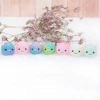 Tetes de cochon en resine 3D  8 pieces  breloques en resine bonbon  fabrication de Cabochon  motif Miniature  ornement  decoration artisanale pour la maison