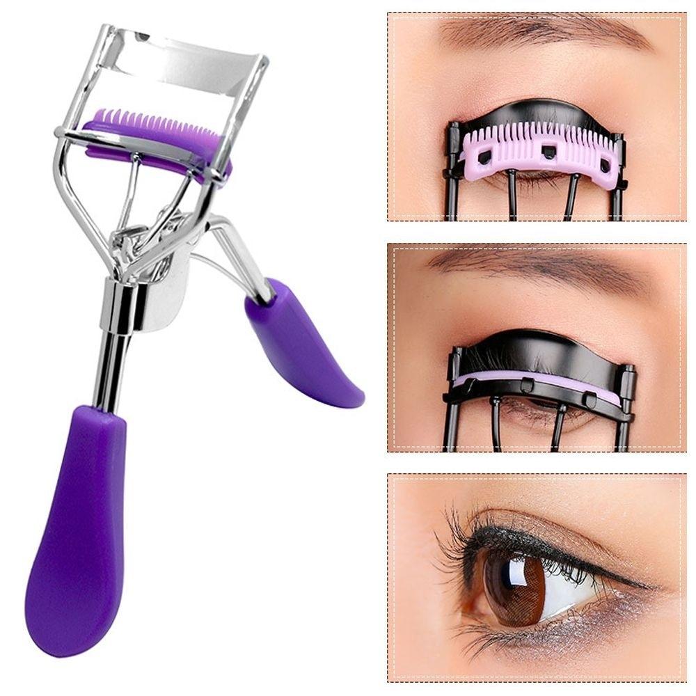 1PC Comb Eyelash Curler Professional Eyelash Curler Folding False Eyelashes Auxiliary Eyelash Curlin