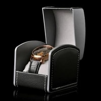 50 hot sales watch box portable exquisite faux leather watch protective box organizer for home