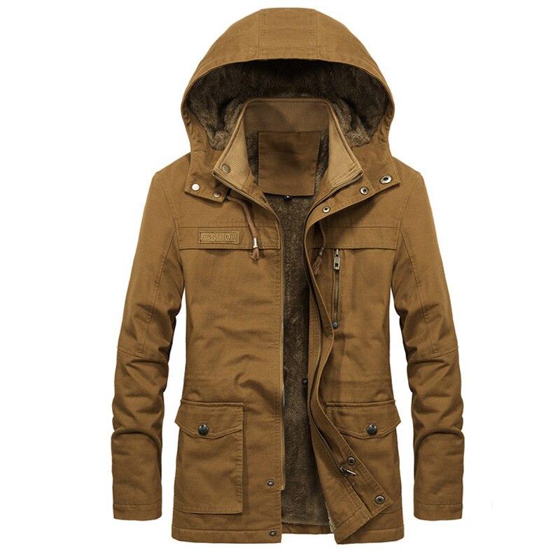 Зимняя плюшевая утепленная ветровка мужская куртка Мужское пальто