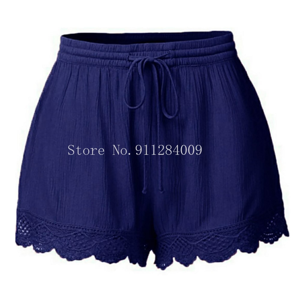 Womens shorts summer short femme sexy Lace Plus Size Rope Tie Shorts Sport Leggings Trousers summer shorts feminino spodenki  - buy with discount
