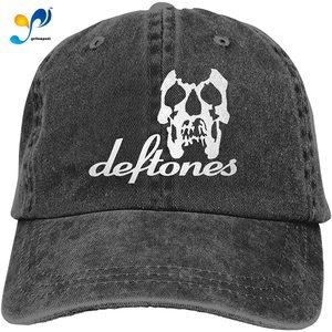 Shannahatten Deftones Skull Cowboy Cap Unisex Baseball Golf Hat Headgear Casquette Black