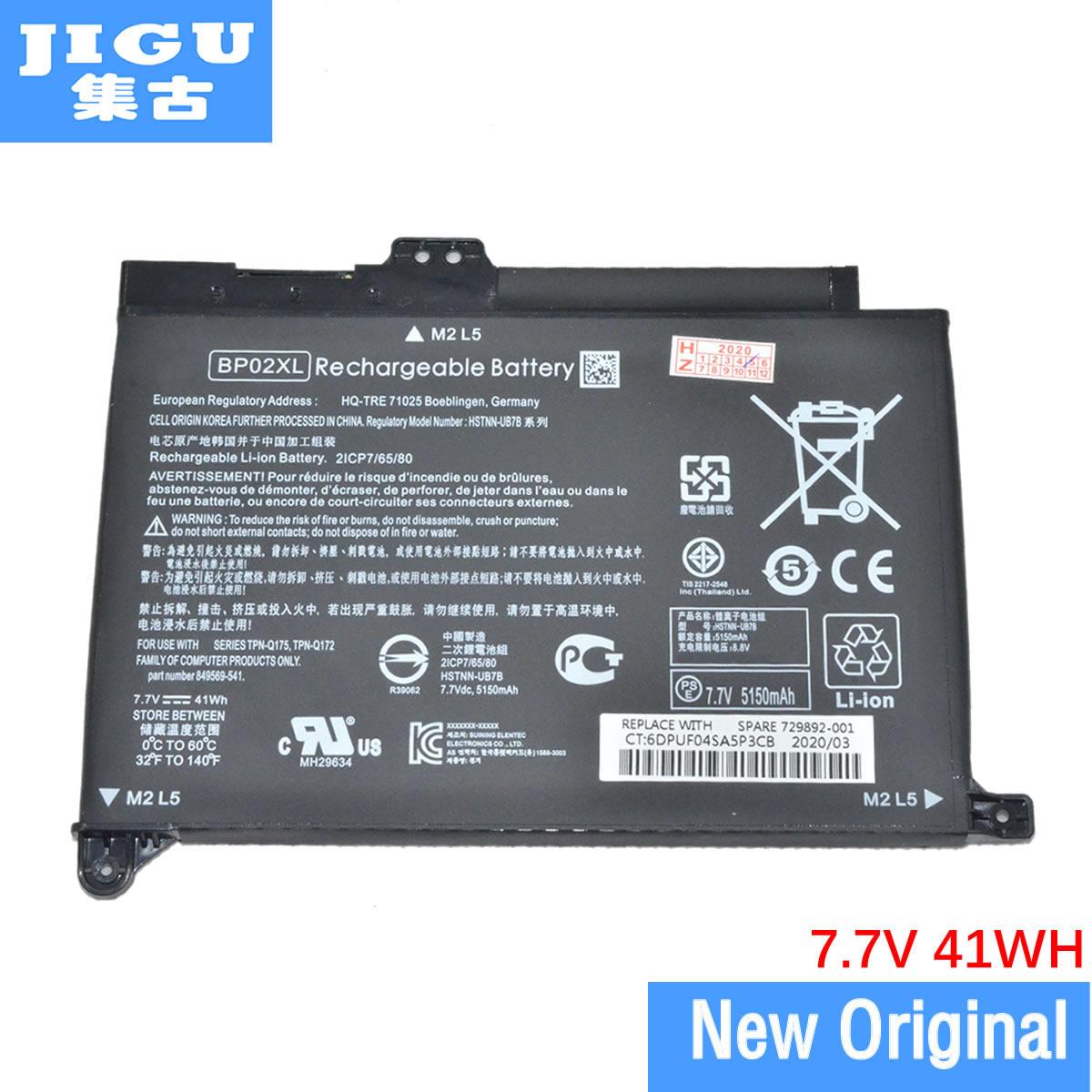 JIGU BP02XL جديد بطارية كمبيوتر محمول ل HP جناح 15-AU010WM 15-AU018 15-AU136TX HSTNN-LB7H HSTNN-UB7B 849569-541 849569-421