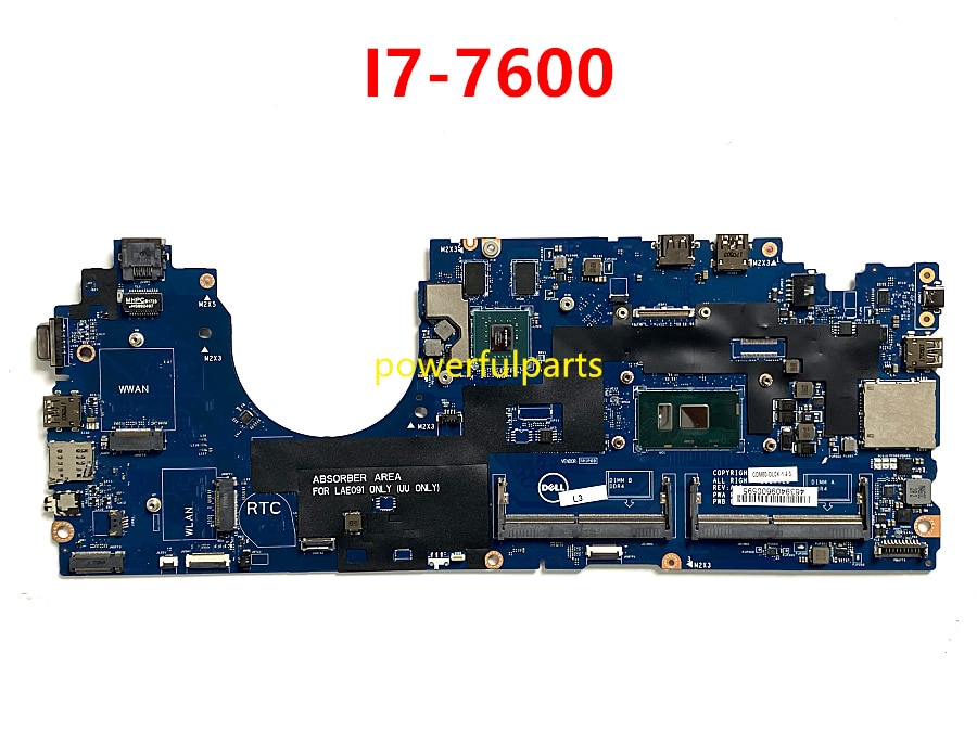 CDM80 LA-E092P اللوحة الأم لديل latitude 5580 اللوحة الرئيسية مع وحدة المعالجة المركزية i7-7600 + الرسم معا 07W357 CN-07W357 اختبارها بشكل جيد